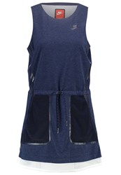 Nike Sportswear Jersey Dress Obsidian Heather White Obsidian Dark Blue