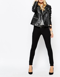 Noisy May Extreme Lucy Biker Jegging Black
