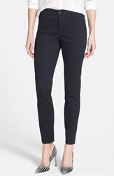 Petite Women's Nydj 'Clarissa' Colored Stretch Ankle Skinny Jeans Black