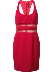 Jay Godfrey Sheer Detail Dress Red