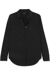 J.Crew Robin Silk Satin Shirt Black Gbp