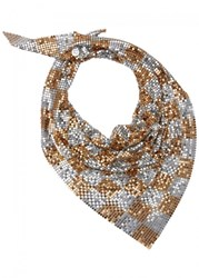 Paco Rabanne Gold And Silver Tone Chainmail Scarf