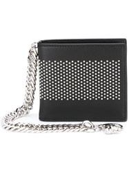 Alexander Mcqueen Studded Chain Wallet Black