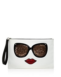 Carlos By Carlos Santana Eyes Have It Graphic Glitter Clutch Compare At 39 White Black