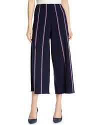 Nic Zoe Lined Up Vertical Striped Pants Multi