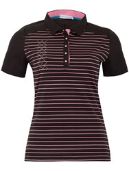 Green Lamb Courtney Striped Polo Black