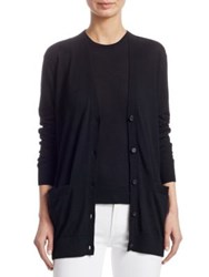 Ralph Lauren Cashmere Long Sleeve V Neck Cardigan Black