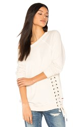 N Philanthropy Mika Lace Up Sweatshirt Cream
