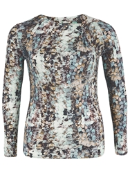 Chesca Sequin Print Jersey Top Opal