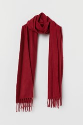 Handm H M Woven Scarf Red