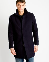 Only And Sons Mens Overcoat Navy