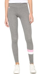 Sundry Stripes Skinny Sweatpants Heather Grey