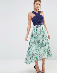 Coast Monroe Embroidered Midi Dress Multi
