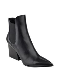 Kendall Kylie Finley Slip On Suede Ankle Boots Black