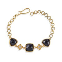 Emma Chapman Jewels Opium Black Spinel And Moonstone Bracelet