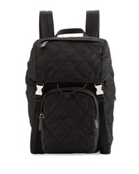 Prada Tessuto Quilted Utilitarian Backpack Black