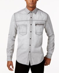 Sean John Men's Denim Shirt Grey Oxide