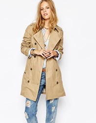 Pepe Jeans Nure Belted Trench Coat Beige