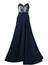 Jason Wu Sweetheart Bust Gown Blue