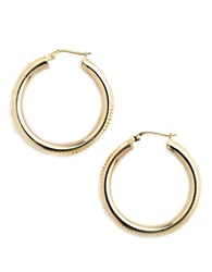 Lord And Taylor 18K Gold Over Sterling Silver Ribbed Hoop Earrings