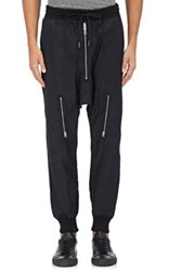 Nlst Men's Cotton Harem Flight Pants Black