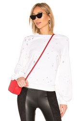 David Lerner Bishop Sleeve Pullover White