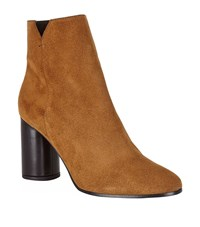 Maje Foly Suede Ankle Boots Female Tan