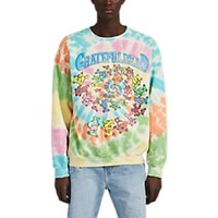 Madeworn Grateful Dead Tie Dyed Cotton Blend Sweatshirt Multi