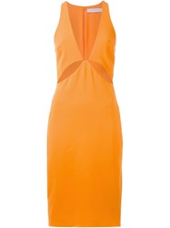 Dion Lee 'Puncture' Dress Yellow And Orange