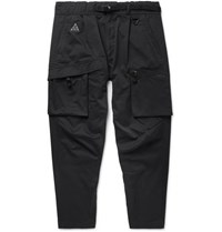 Nike Black Acg Tapered Cotton Blend Twill Cargo Trousers Black