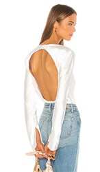 C Meo Collective Polarised Blouse In White. Ivory