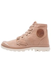 Palladium Pallabrousse Laceup Boots Toasted Coconut Safari Sand