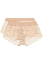 Commando Double Take Set Of Two Stretch Lace Boy Shorts