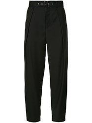 Guild Prime Belted High Waist Trousers Polyester Rayon Black