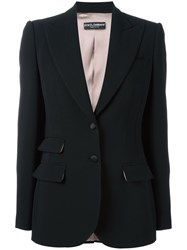 Dolce And Gabbana Double Pocket Front Blazer Black