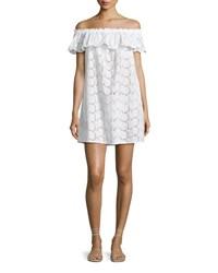 Tory Burch Broderie Coverup Dress White
