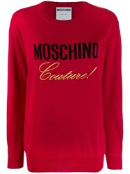 Moschino Couture Jumper Red