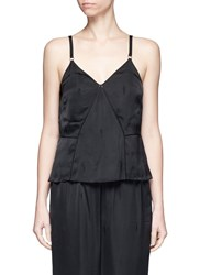 Alexander Wang Exotic Dancer Jacquard Satin Cami Top Black