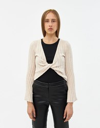 Which We Want Emily Twist Front Sweater Sand
