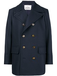 Vivienne Westwood Double Breasted Military Coat Blue