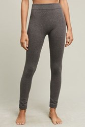 Anthropologie Fleece Lined Cabeled Leggings Dark Grey