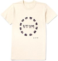 Visvim Slim Fit Printed Cotton Jersey T Shirt Ecru