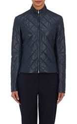 The Row Women's Quipton Quilted Leather Jacket Navy