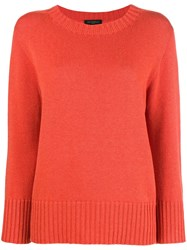 Antonelli Loose Fitted Sweater Yellow And Orange