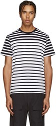 Rag And Bone Black And White Striped T Shirt
