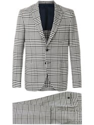 Massimo Piombo Mp Checked Two Piece Suit Black