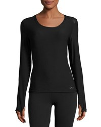 X By Gottex Back Zip Long Sleeve Tee Black