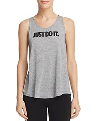 Nike Breathe Logo Tank Carbon Heather