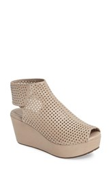 Chocolat Blu Women's Wing Perforated Platform Wedge