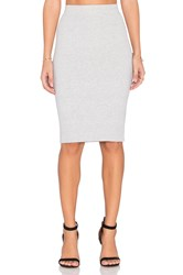 Michael Stars Ribbed Pencil Skirt Gray